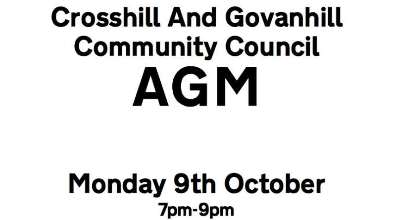 AGM 2017: 9th October